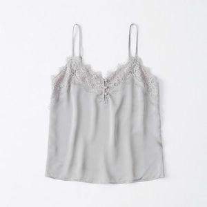 Abercrombie Lace Trim Pink Cami